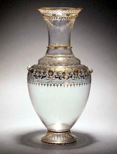 A Lobmyer iridescent vase