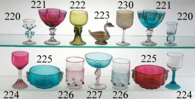 Seventeen Murano wine-glasses