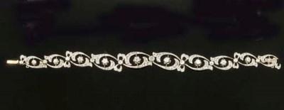 An Art Nouveau diamond and ros