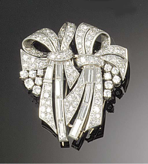 A 1940's diamond and fancy-cut