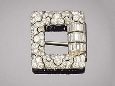 An Art Deco diamond and baguet