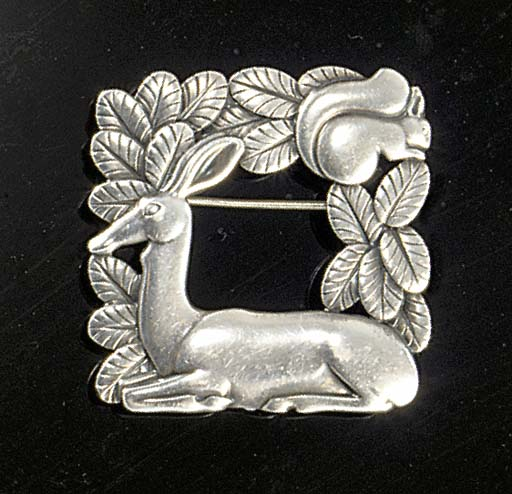 A Georg Jensen deer and squirr