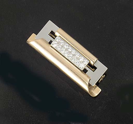 A 1960's diamond set two colou