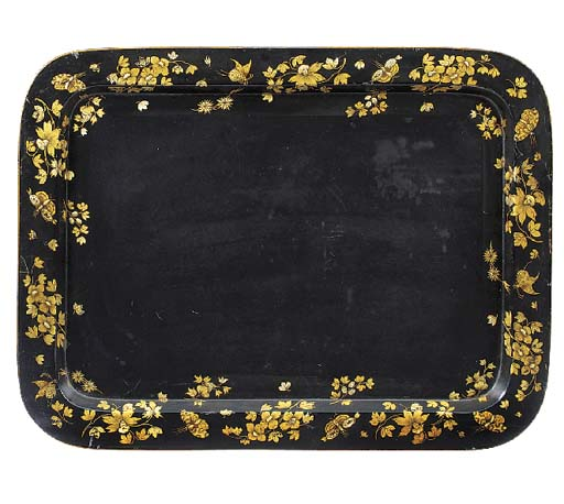 A Regency gilt heightened blac