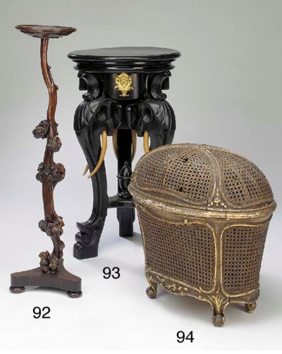 A French basketwork and giltwo