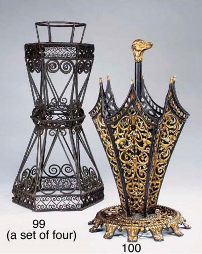 A French parcel gilt cast iron
