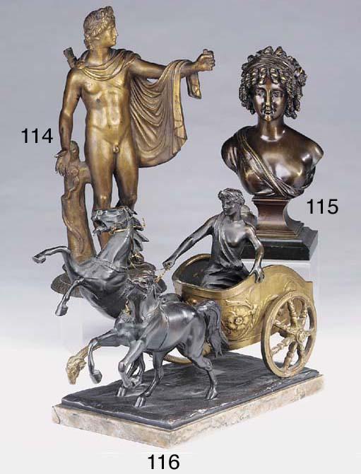 A bronze model of the Apollo B