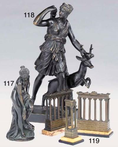 A French bronze model of Venus