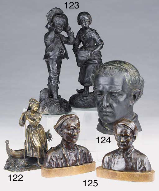 A Continental bronze model of