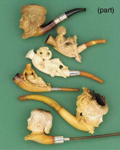 Eleven Meerschaum tobacco pipe