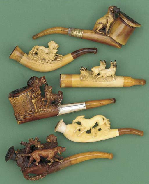 Six assorted Meerschaum pipes,