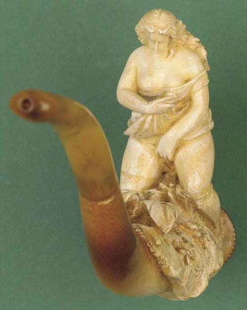 An erotic Meerschaum pipe, lat