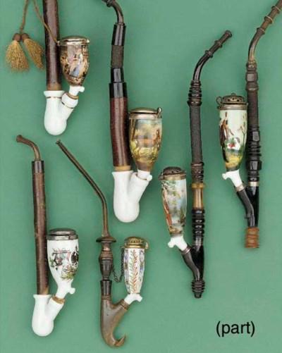 Nine assorted Berlin porcelain