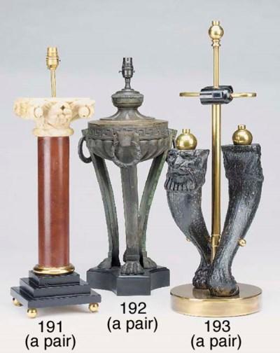 A pair of ornamental athenienn
