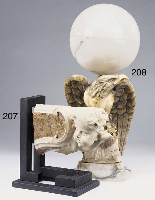 An Italian sculpted marmo broc