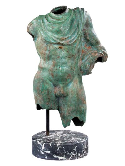 A Continental green patinated