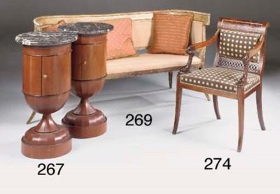 A pair of mahogany pot cupboar