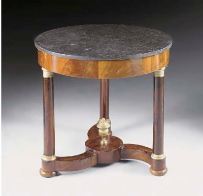 An Empire Revival mahogany and