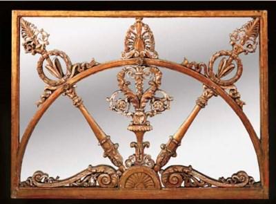 A giltwood mirror, 19th centur