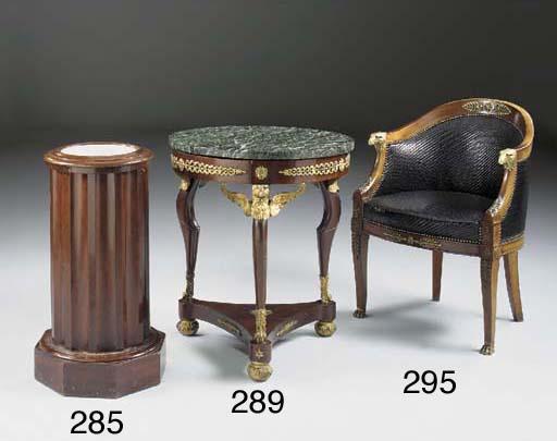 A mahogany pedestal pot cupboa