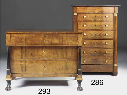 An Italian walnut commode, first half of the 19th century