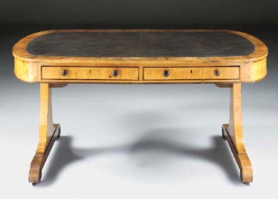 A late Regency rosewood and ma