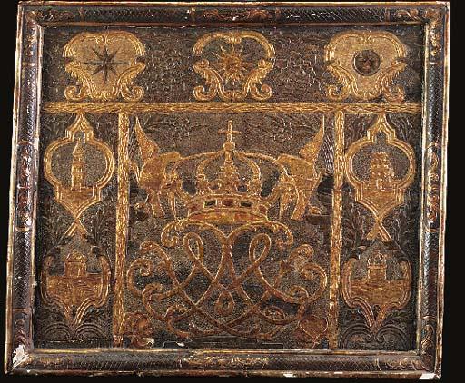 A decorative giltwood panel, 1