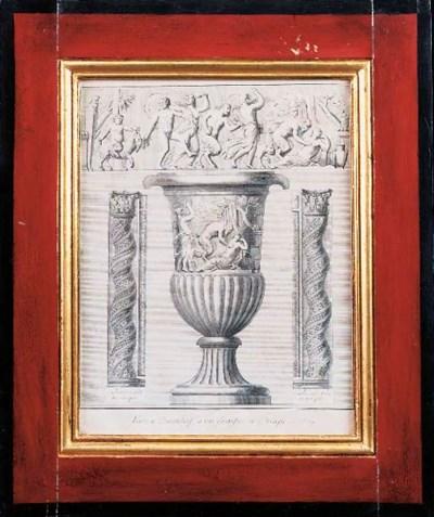 A print of an antique vase