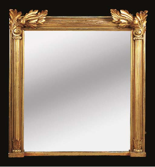 A giltwood mirror, 20th centur