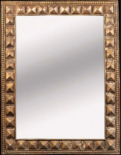 A large giltwood mirror, 20th