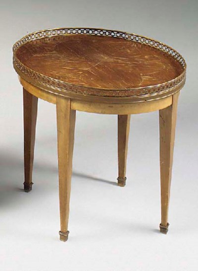 A FRENCH MAHOGANY PARQUETRY AN