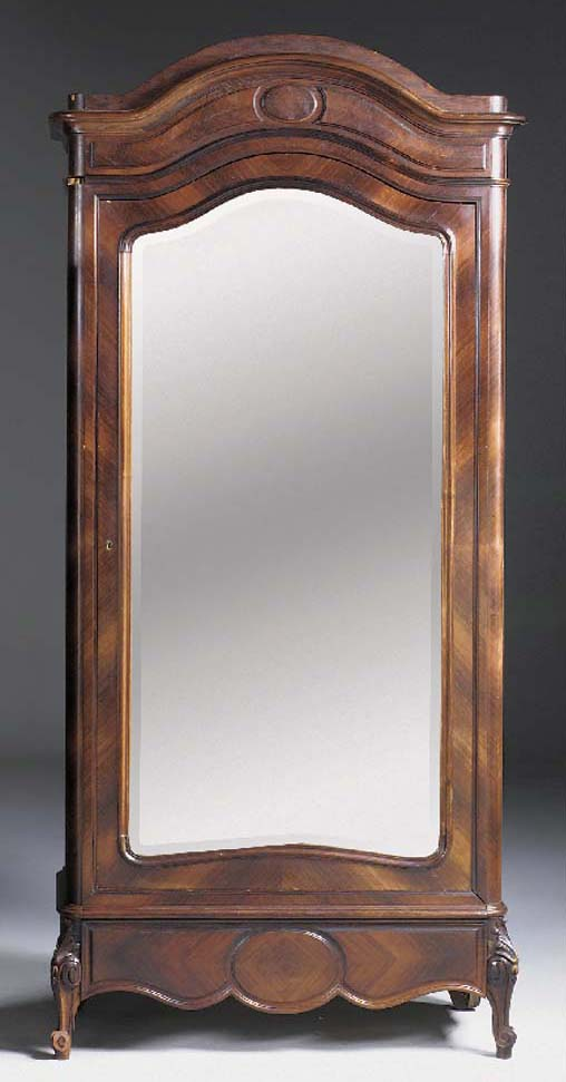 A KINGWOOD MIRRORED ARMOIRE, L