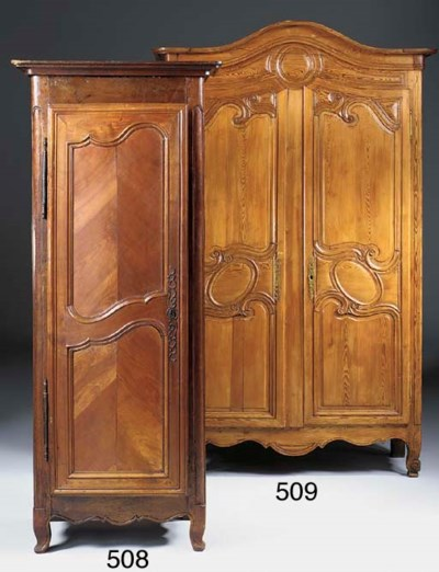 A FRENCH PINE ARMOIRE, EARLY 2