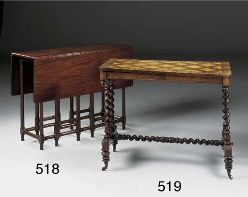 A VICTORIAN ROSEWOOD AND SATIN