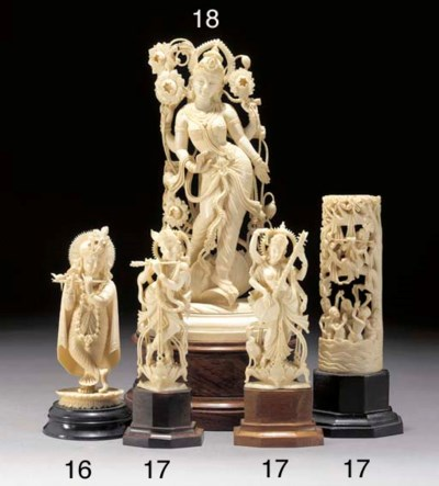 An Indian ivory group 20th Cen