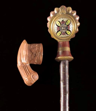 A Topane gilt decorated pipe 1