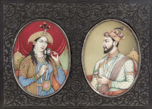Emperor Shah Jahan and Mumtaz Mahal Delhi School, 19th Century