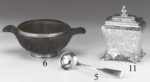 A SCOTTISH SILVER TEA CADDY