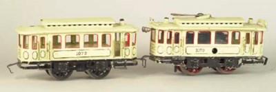 A Märklin clockwork Two-Car Tr