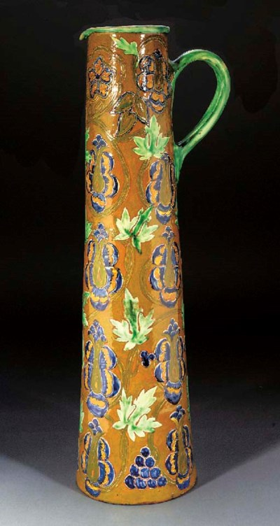A LARGE TERRACOTTA EWER by Del