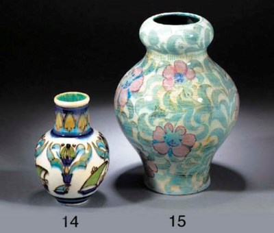 AN EARTHENWARE 'ANGLO-PERSIAN'