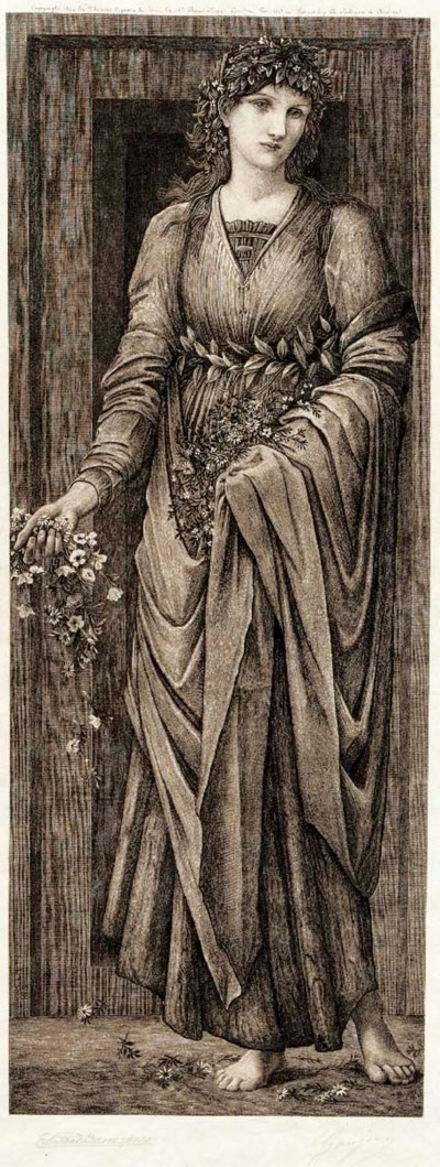 'CLASSICAL MAIDEN' AN ETCHING