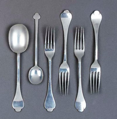 SIX PIECES OF CUTLERY designed