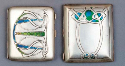A LIBERTY SILVER AND ENAMEL CI