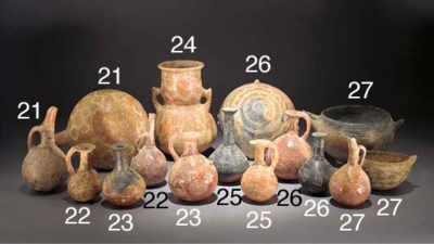 EIGHT CYPRIOT INCISED RED POLI