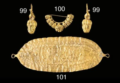A GREEK SHEET GOLD FUNERARY MO