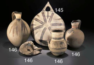 A GROUP OF CYPRIOT POTTERY VES
