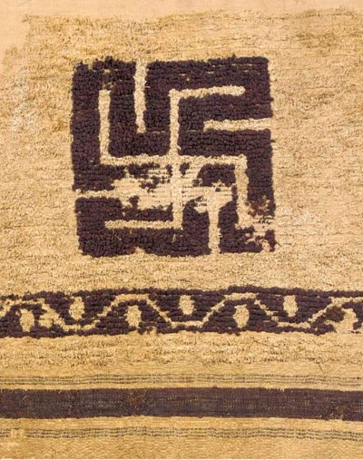 A COPTIC WOOL AND LINEN 'SWAST
