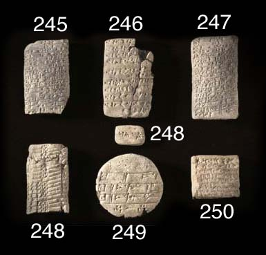 FIVE OLD BABYLONIAN CUNEIFORM