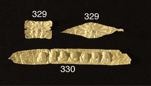 A ROMAN SHEET GOLD FUNERARY WR
